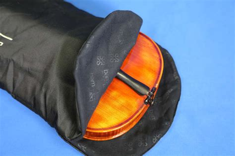 BAMバイオリン二層シルクバッグ Double layer silk bag with lace for Violin