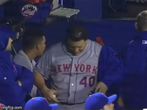 Bartolo Colon shaking his belly fat is wonderful and
