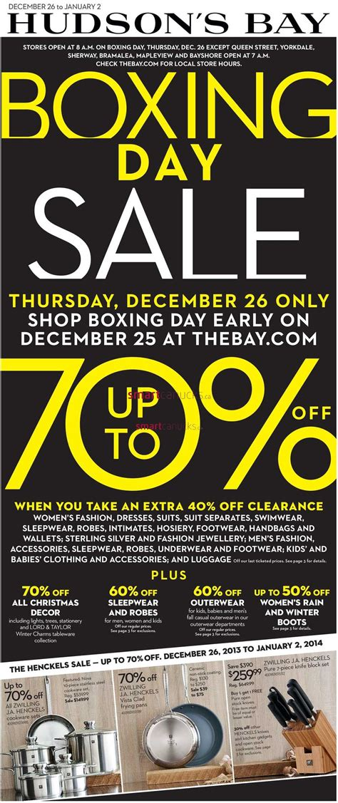Hudson's Bay Boxing Day Flyer - The Bay Boxing Week Flyer